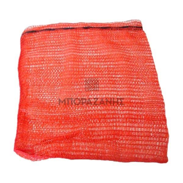 Διχτυωτά πλαστικά σακιά ράσελ raschel με μαύρο κορδόνι