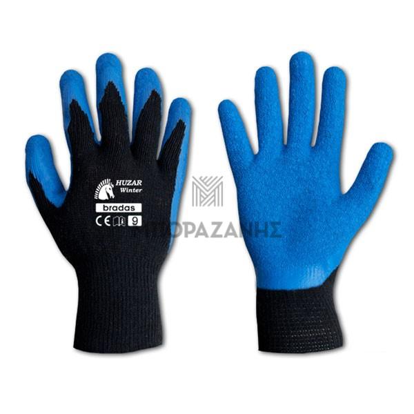 Γάντια εργασίας LATEX Bradas Huzar Winter RWHW10