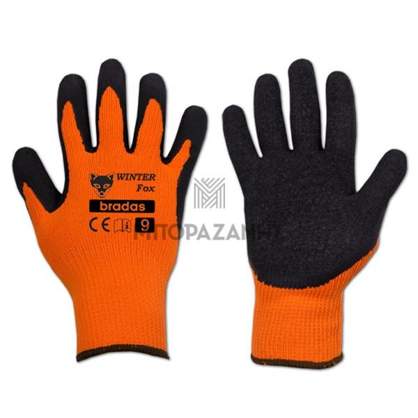 Γάντια LATEX εργασίας Bradas Winter Fox RWWF10