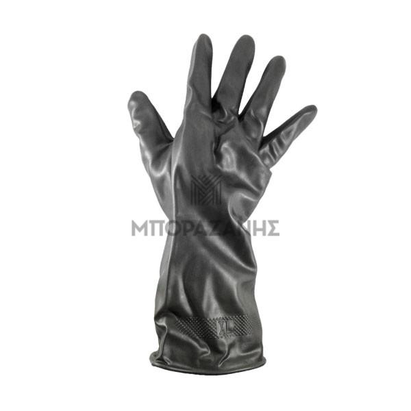 Γάντια εργασίας λάτεξ για διαβρωτικά, καθαριστικά, χημικά κ.α.