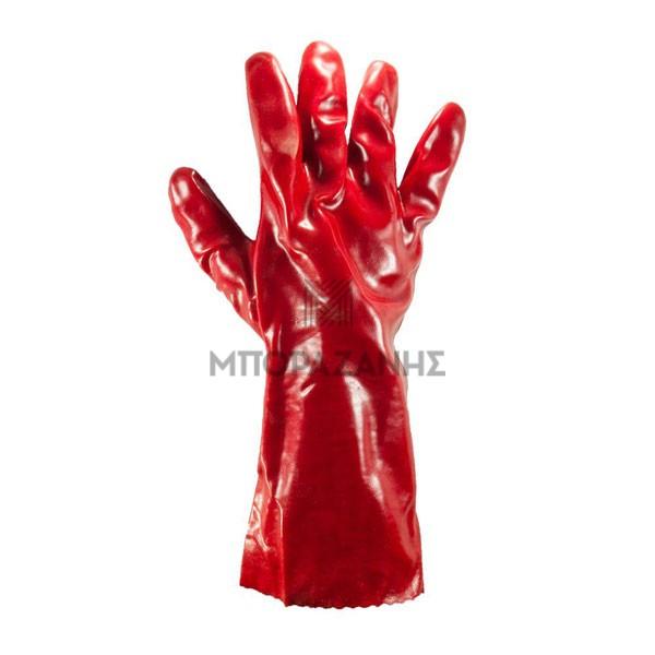 Γάντια πετρελαίου κόκκινα