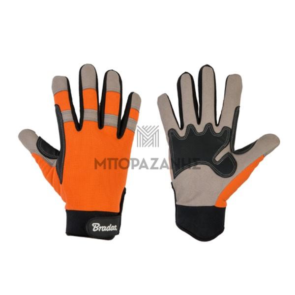 Υφασμάτινα πολυεστερικά γάντια εργασίας Bradas Tech Gray