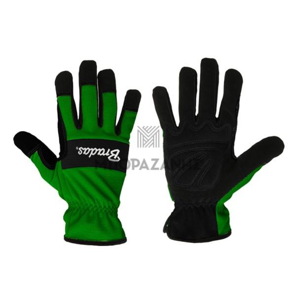 Υφασμάτινα γάντια εργασίας Bradas Verde