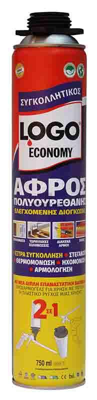 66ΓΒ20 LOGO ΑΦΡΟΣ PU ECONOMY 750ml ΣΥΓΚΟΛΛΗΤΙΚΟΣ